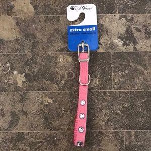 Pet wear crystal dog collar